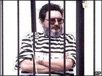 Abimael Guzmán, poco después de su captura.