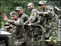 Georgian troops in Kodori Gorge