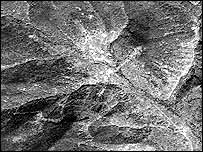 Satellite photo of the suspected test site (image: GeoEye)