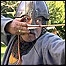 Re-enactor taking part in the battle