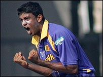 Farveez Maharoof bowled a magnificent spell to destroy the West Indies
