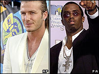 David Beckham and P Diddy