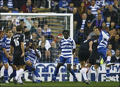Frank Lampard takes a free-kick