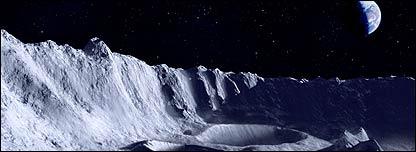 Vista panorámica desde la Luna