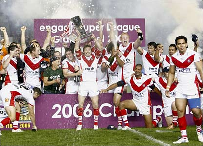 Fireworks and champage marked St Helens' victory