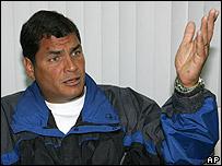 Rafael Correa, candidato presidencial nacionalista
