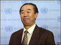 El embajador de Corea del Norte ante la ONU, Pak Gil Yon