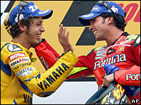 Valentino Rossi and Toni Elias