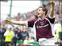 Andrius Velicka scored twice at Easter Road
