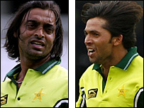 Shoaib Akhar and Mohammad Asif