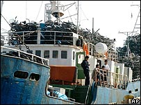 North Korean ship in Japan on 10 October 2006