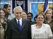 Moshe and Gila Katsav