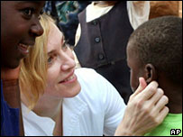 Madonna with Malawian children