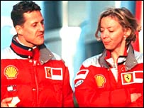 Michael Schumacher and his spokesperson  Sabine Kehm
