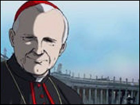 Animation of Pope John Paul II. Photo: Cavin Cooper Productions