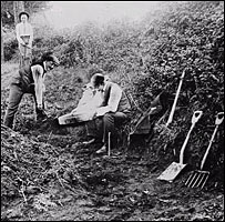 The dig at Piltdown   Image: Natural History Museum