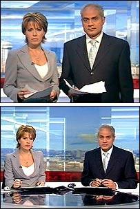 Natasha Kaplinsky and George Alagiah