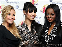 The Sugababes; (l to r) Heidi Range, Amelle Berrabah, Keisha Buchanan