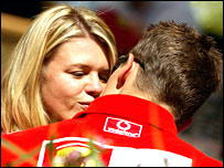 Corinna and Michael Schumacher enjoy an intimate moment