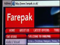 Farepak website