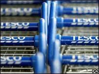 Tesco shopping trolleys, PA