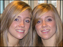 Twins Francine and Nicola Gleadall