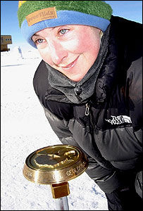 Hannah McKeand at South Pole in 2004