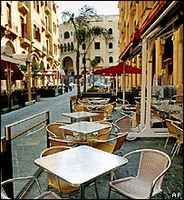 Beirut pavement cafes