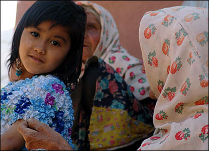 Child and grandmother. Abanieh, central Iran.  Photograph by Hamed Behnam.