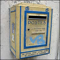 French post box