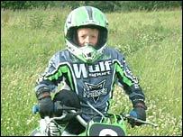 Joe Geeling on a motorbike