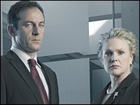 Jason Isaacs and Sharon Gless in The State Within
