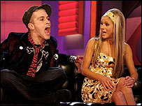 Pete Bennett and Nikki Grahame