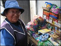 Paulina, vendedora ambulante