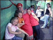 Camila Batmanghelidjh and children from her charity