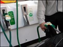 Man at a petrol pump