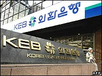 Korea Exchange Bank offices in Seoul
