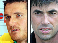 Graeme Smith (L) and Stephen Fleming
