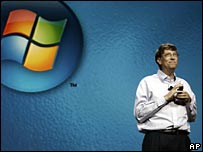 Bill Gates announcing Vista