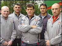 Neil Jenkins, Rowland Phillips, Gareth Jenkins, Nigel Davies and Robin McBryde
