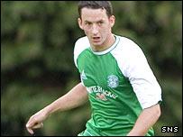 Hibernian midfielder Guillaume Beuzelin