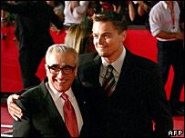Martin Scorsese with Leonardo DiCaprio