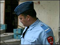 A Moroccan police officer