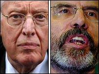 DUP leader Ian Paisley and the Sinn Fein President Gerry Adams