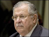 Iraqi President Jalal Talabani. File photo
