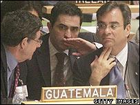 Delegates at the UN