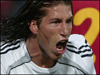 Sergio Ramos scored Real Madrid's first goal against Steaua