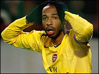 Thierry Henry cannot believe his effort was disallowed in Moscow
