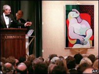 Picasso's The Dream at auction in 1997