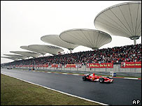 Shanghai International Circuit, host to Formula One motor racing